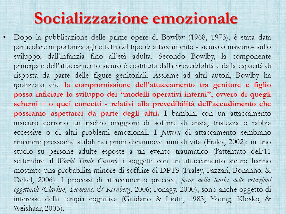 Socializzazione emozionale