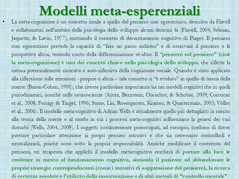 Modelli meta-esperenziali