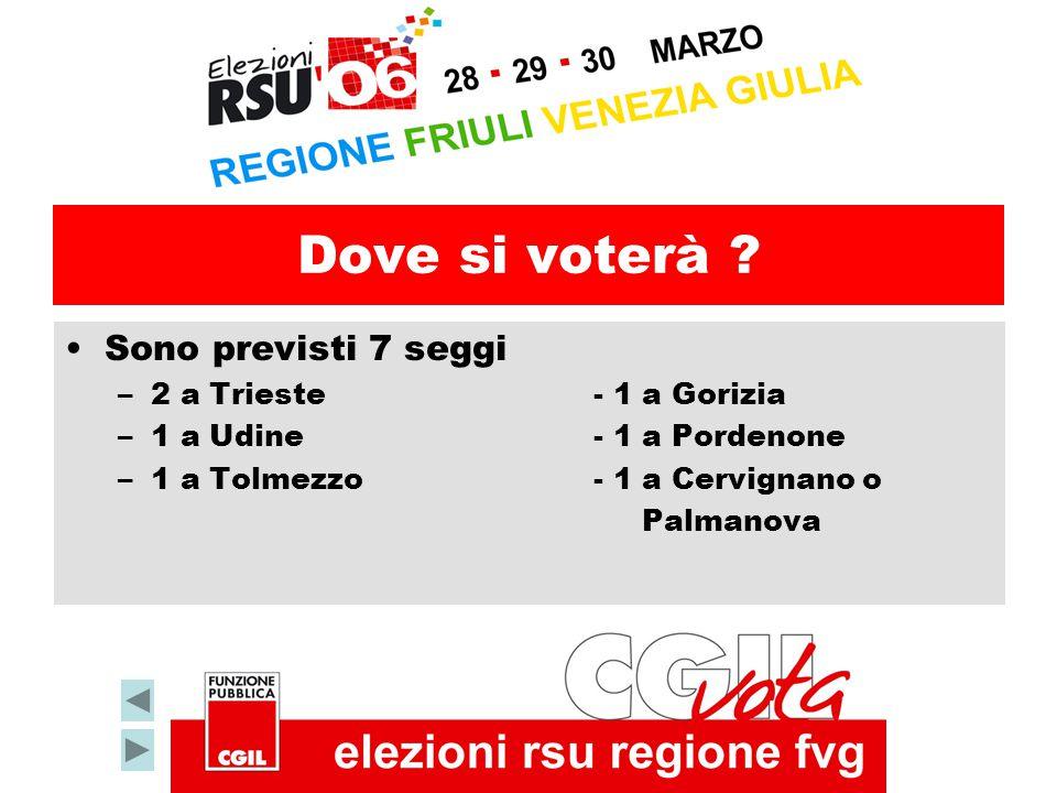 Dove si voterà Sono previsti 7 seggi 2 a Trieste - 1 a Gorizia