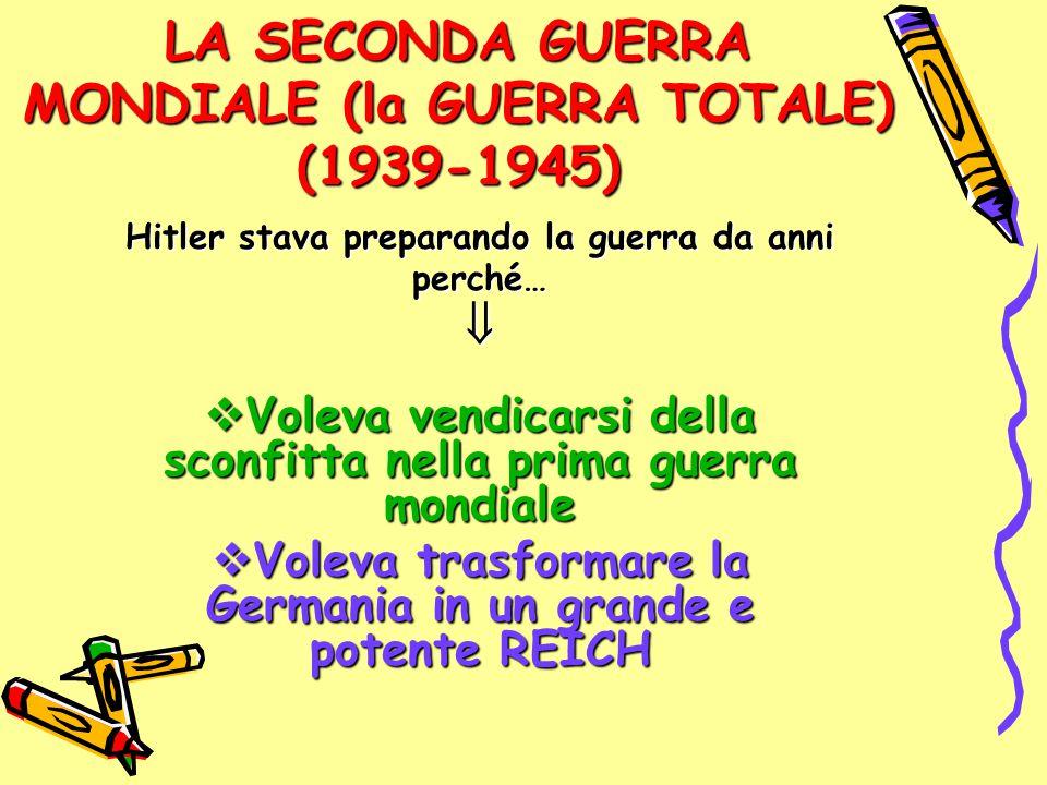 LA SECONDA GUERRA MONDIALE (la GUERRA TOTALE) (1939-1945)
