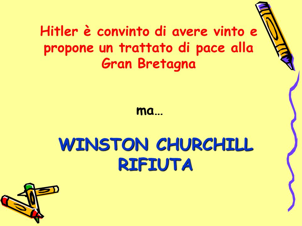 ma… WINSTON CHURCHILL RIFIUTA