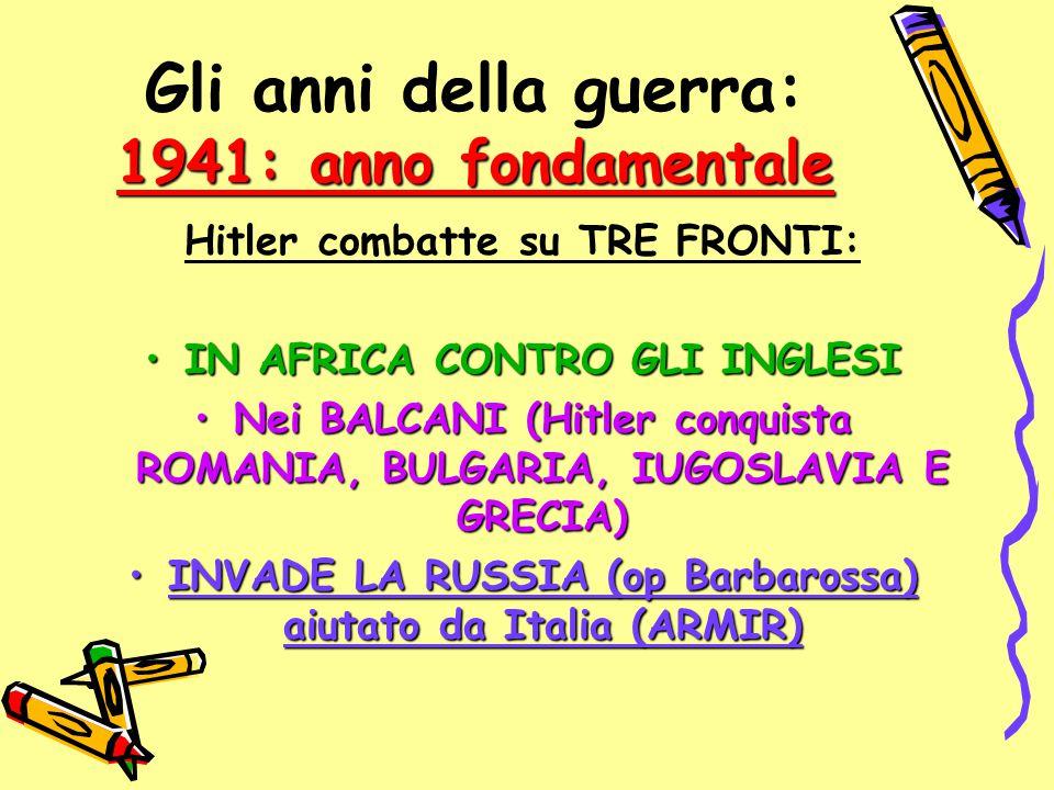 Gli anni della guerra: 1941: anno fondamentale