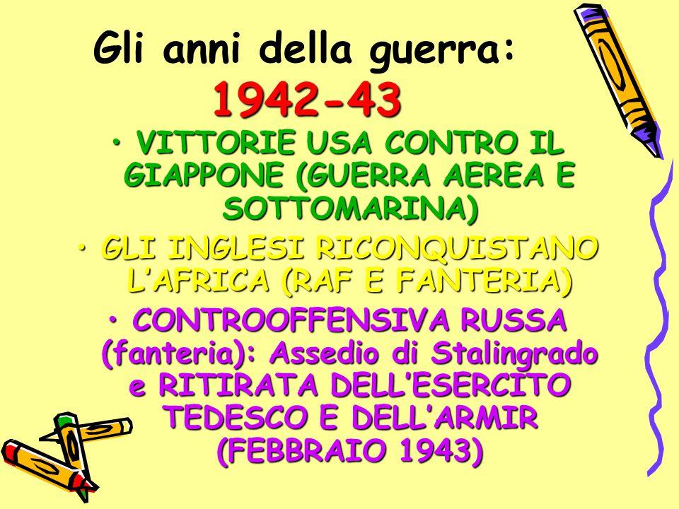 Gli anni della guerra: 1942-43