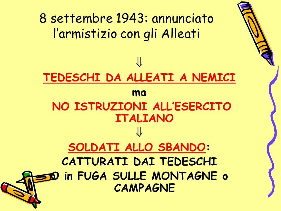 8 settembre 1943: annunciato l'armistizio con gli Alleati