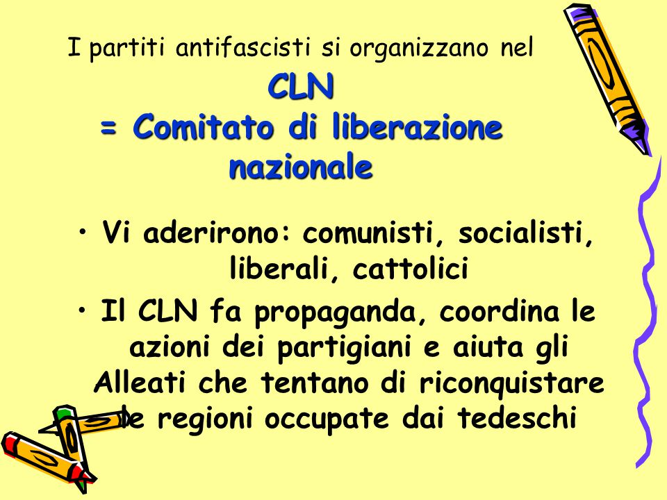Vi aderirono: comunisti, socialisti, liberali, cattolici