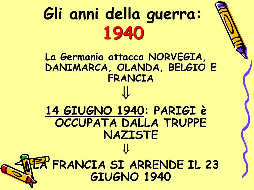 Gli anni della guerra: 1940 