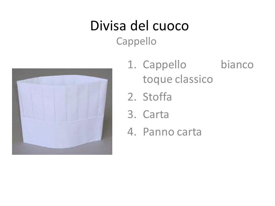 Divisa del cuoco Cappello bianco toque classico Stoffa Carta