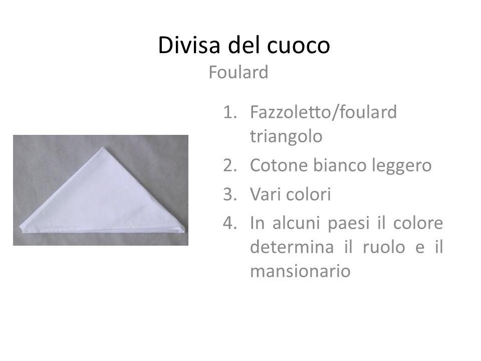 Divisa del cuoco Foulard Fazzoletto/foulard triangolo