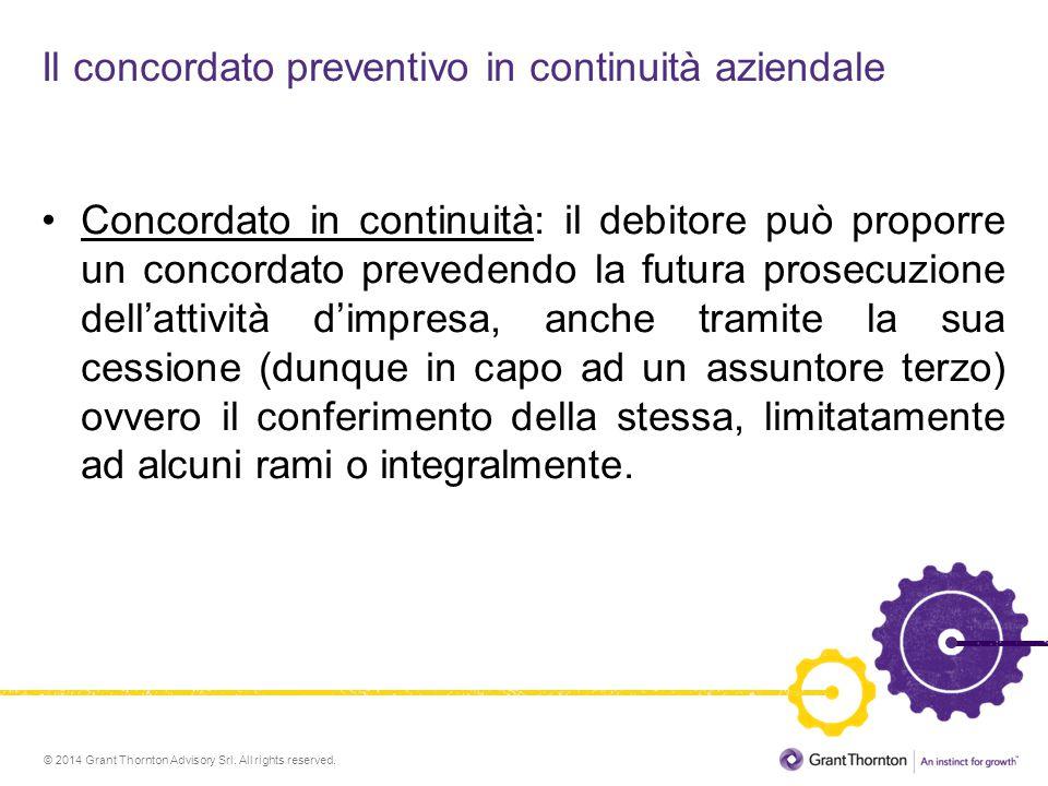 Il concordato preventivo in continuità aziendale
