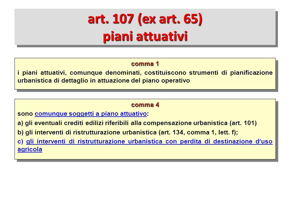 art. 107 (ex art. 65) piani attuativi