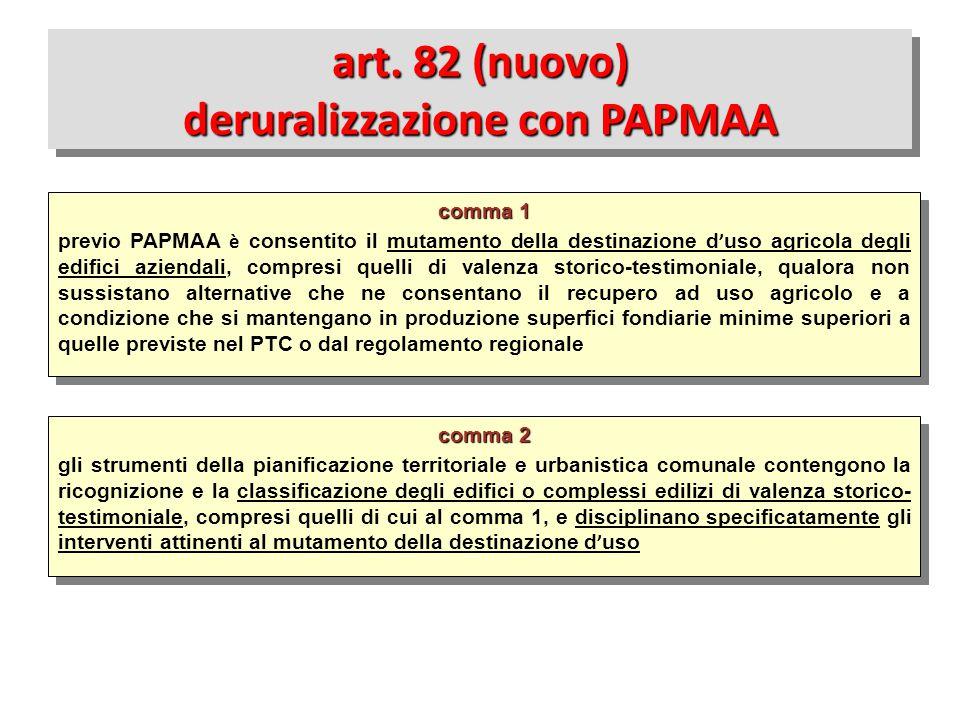 art. 82 (nuovo) deruralizzazione con PAPMAA