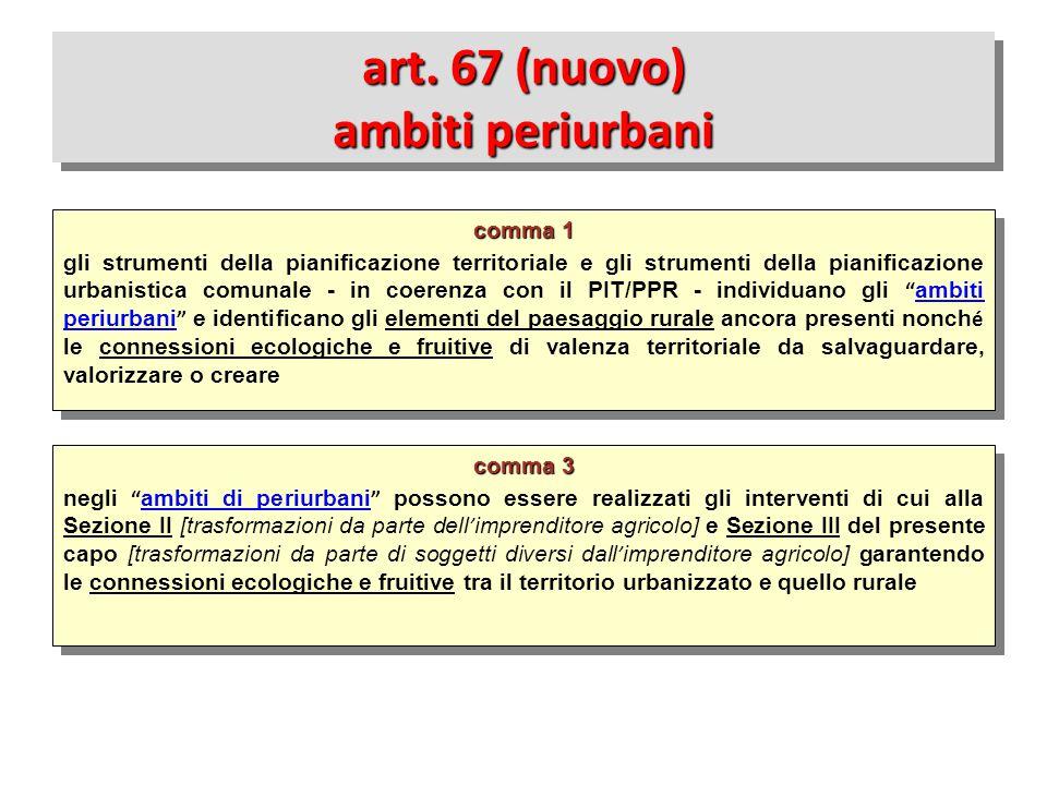art. 67 (nuovo) ambiti periurbani