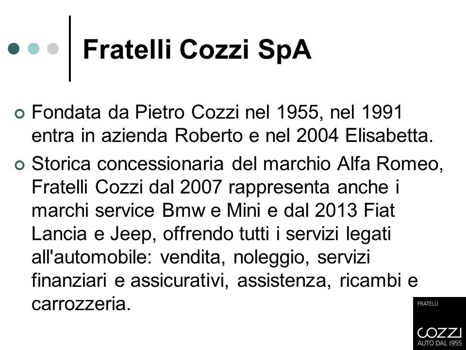 Fratelli Cozzi SpA Fondata da Pietro Cozzi nel 1955, nel 1991 entra in azienda Roberto e nel 2004 Elisabetta.