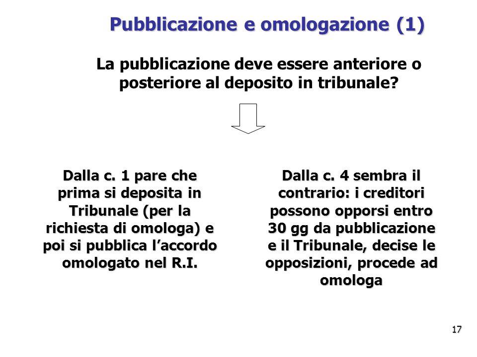 Pubblicazione e omologazione (1)