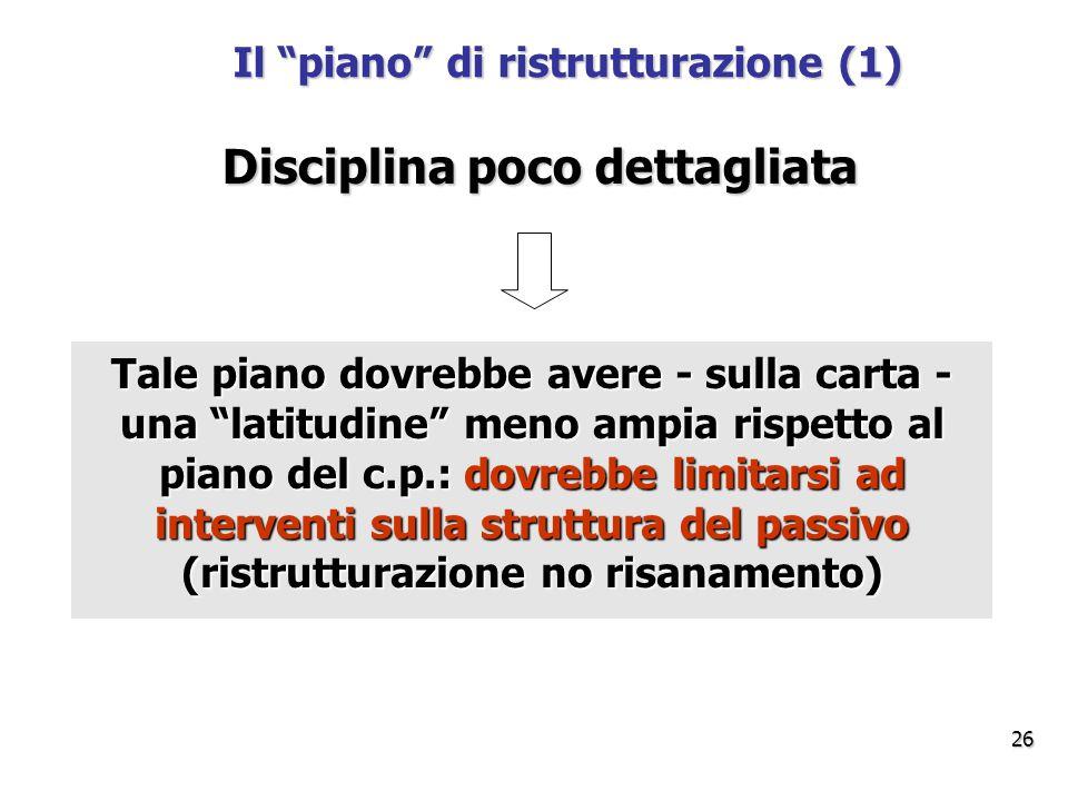 Il piano di ristrutturazione (1)