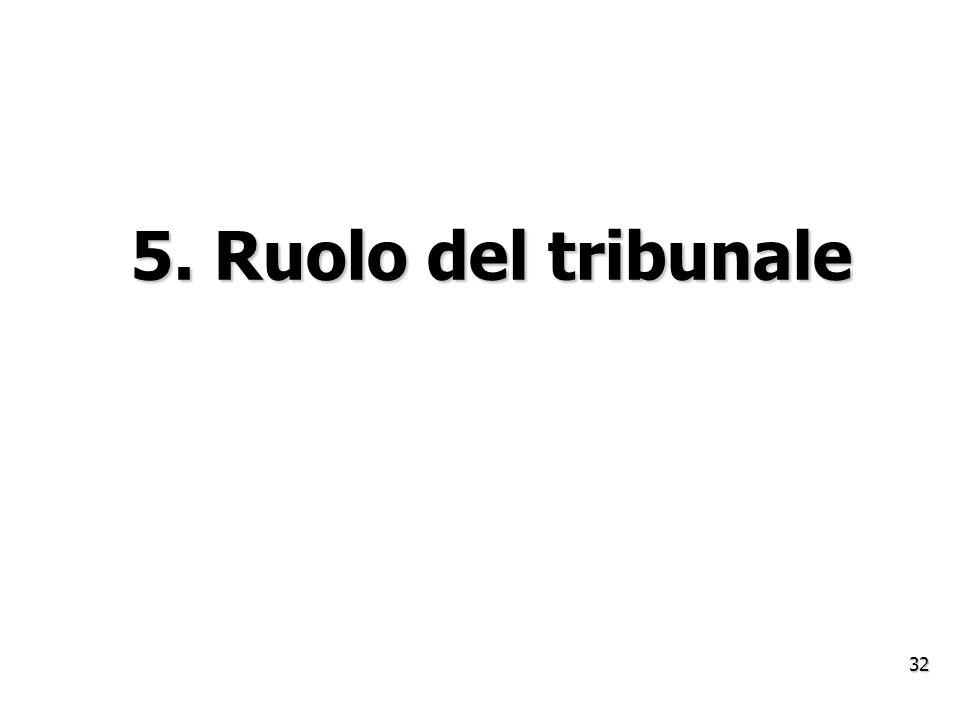 5. Ruolo del tribunale 32