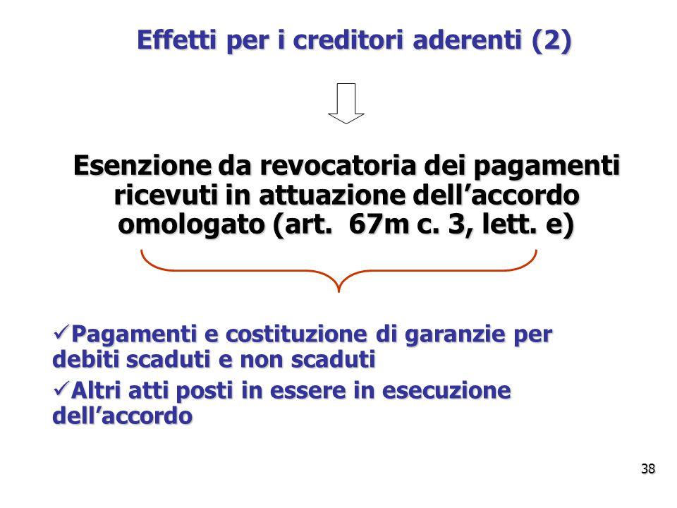 Effetti per i creditori aderenti (2)