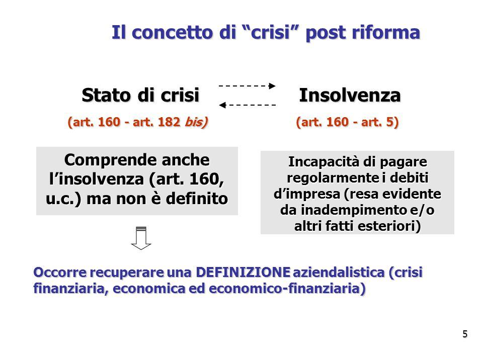 Il concetto di crisi post riforma