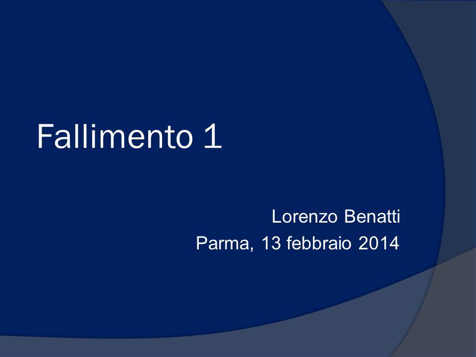 Lorenzo Benatti Parma, 13 febbraio 2014