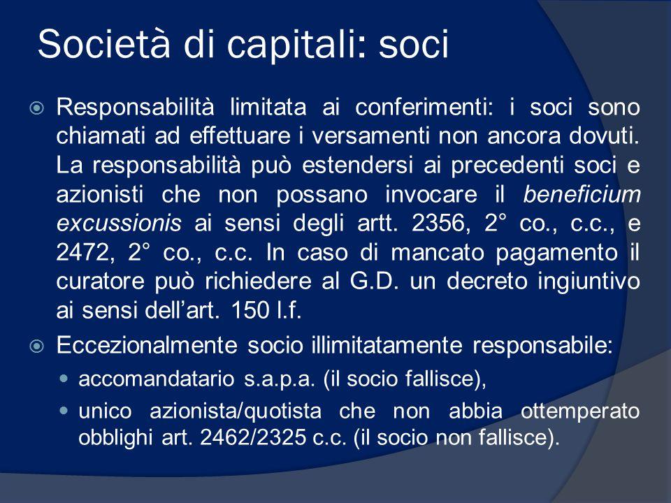 Società di capitali: soci