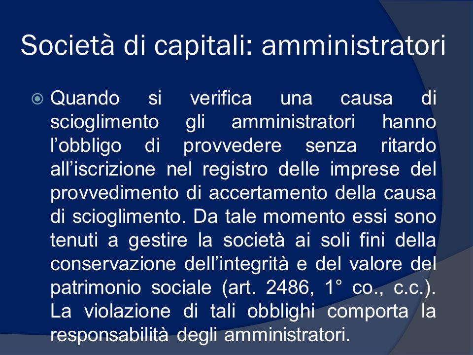 Società di capitali: amministratori
