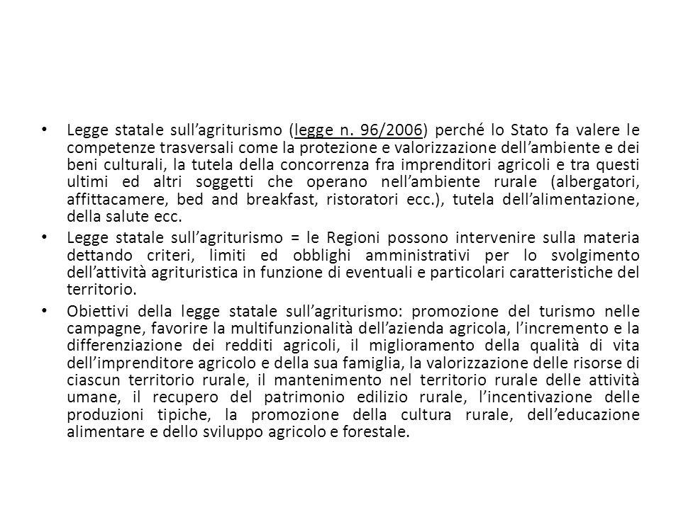 Legge statale sull'agriturismo (legge n