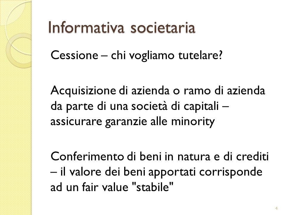 Informativa societaria