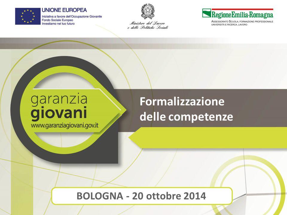 Formalizzazione delle competenze BOLOGNA - 20 ottobre 2014