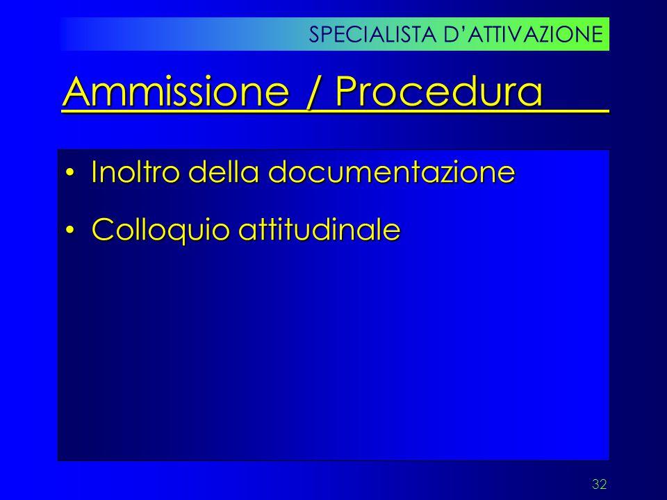 Ammissione / Procedura