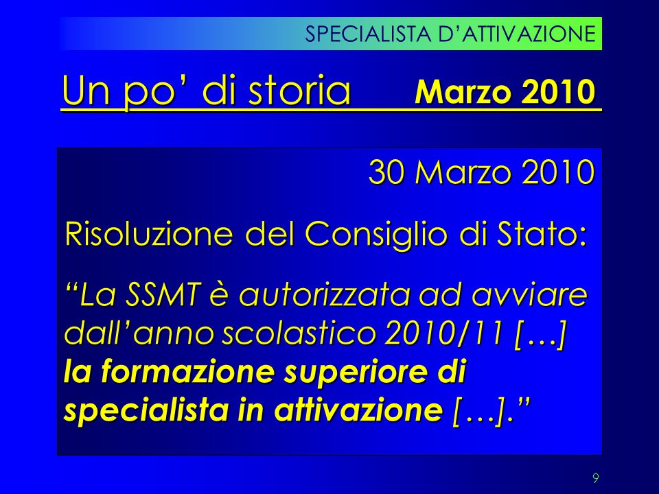Un po' di storia Marzo 2010 30 Marzo 2010