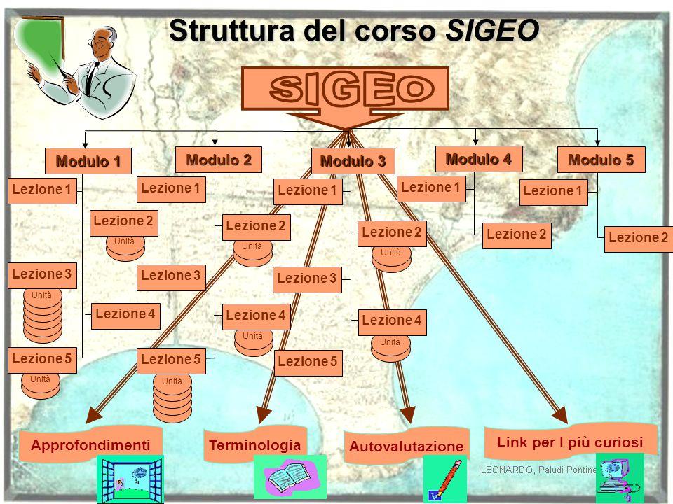 Struttura del corso SIGEO