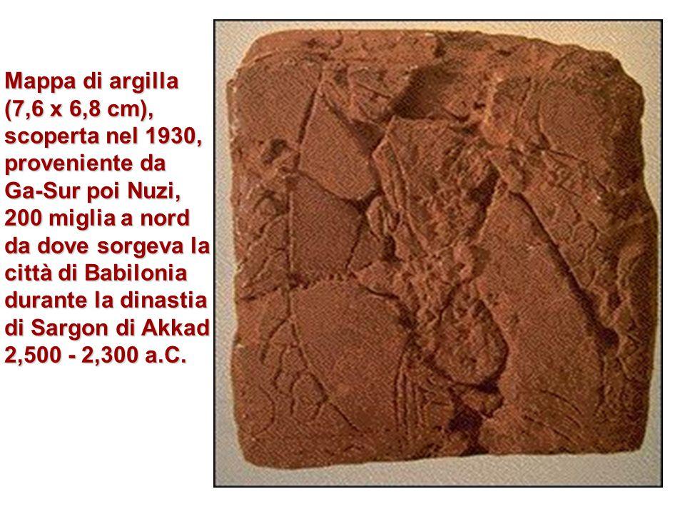 Mappa di argilla (7,6 x 6,8 cm), scoperta nel 1930, proveniente da
