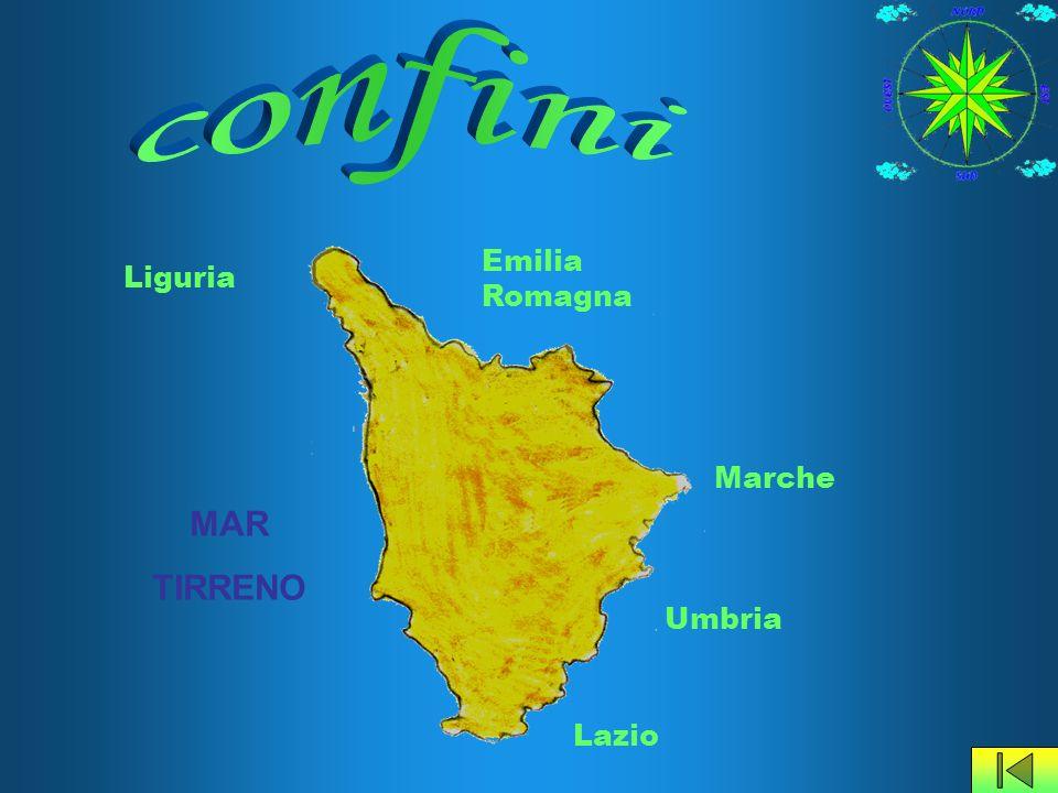 confini Emilia Romagna Liguria Marche MAR TIRRENO Umbria Lazio