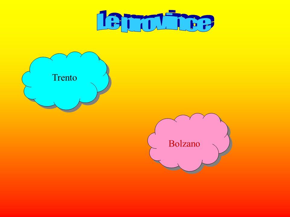 Le province Trento Bolzano