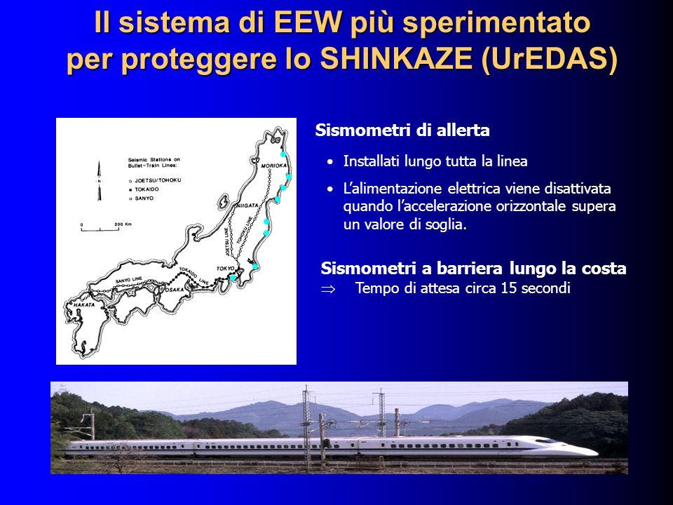 Il sistema di EEW più sperimentato per proteggere lo SHINKAZE (UrEDAS)