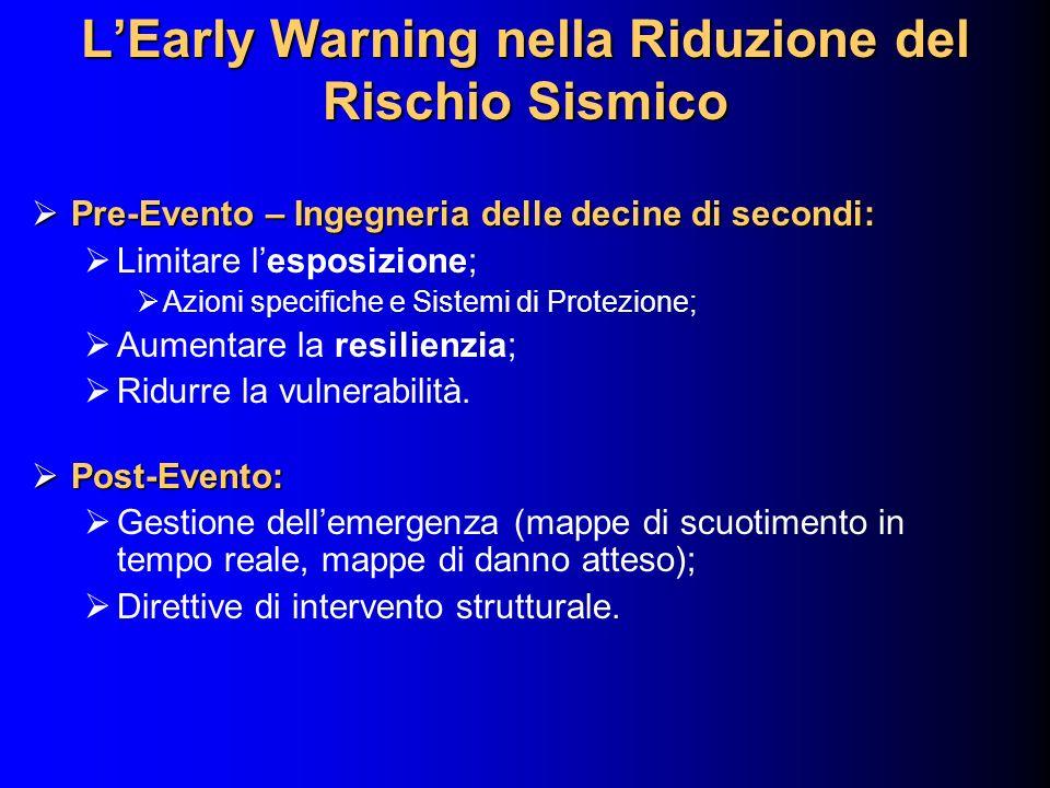 L'Early Warning nella Riduzione del Rischio Sismico