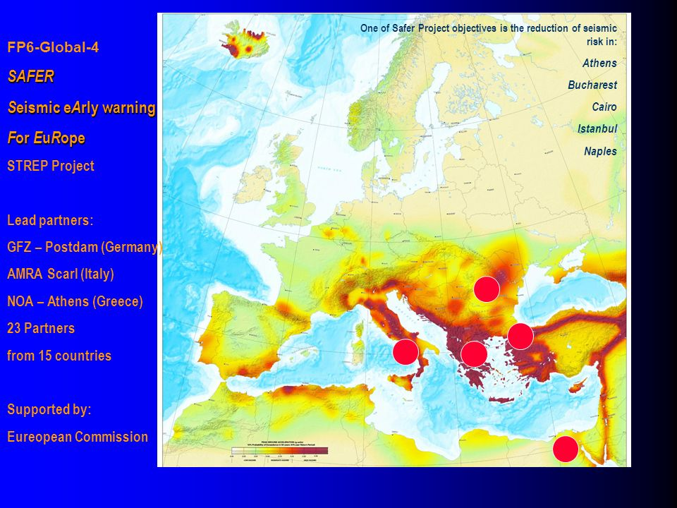 SAFER Seismic eArly warning For EuRope FP6-Global-4 STREP Project