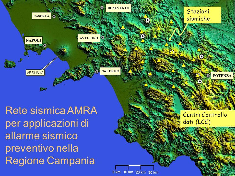 Stazioni sismiche Rete sismica AMRA per applicazioni di allarme sismico preventivo nella Regione Campania.