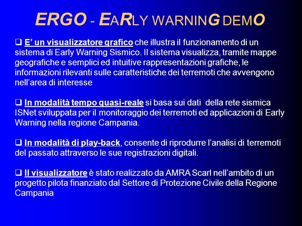 ERGO - EARLY WARNING DEMO