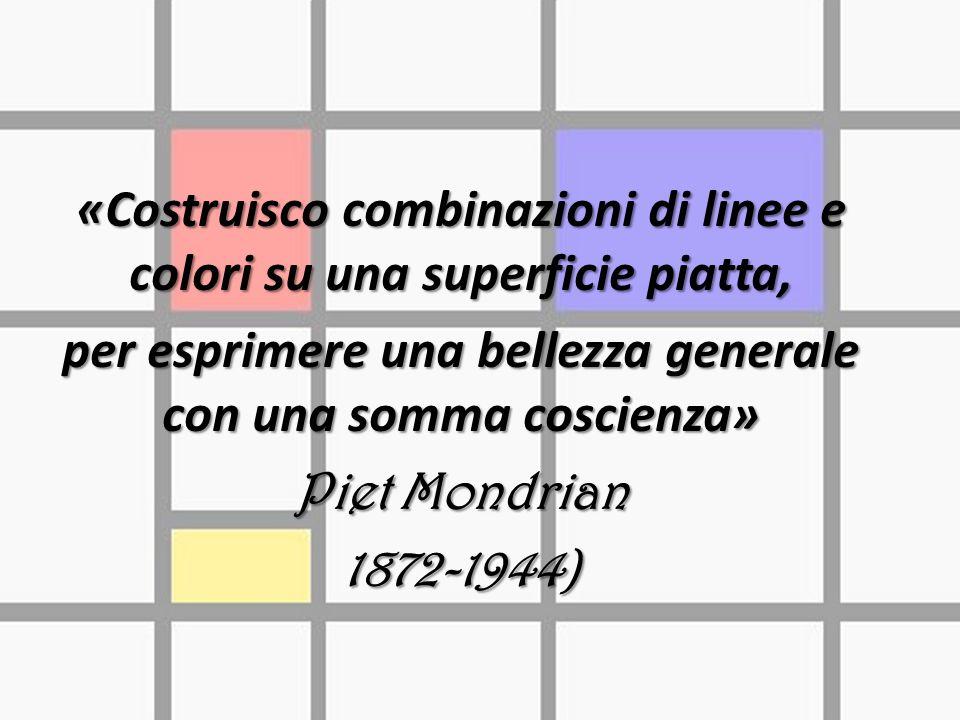 «Costruisco combinazioni di linee e colori su una superficie piatta,