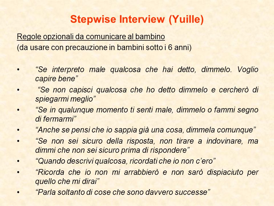 Stepwise Interview (Yuille)