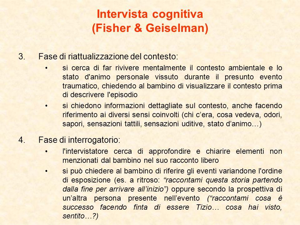Intervista cognitiva (Fisher & Geiselman)