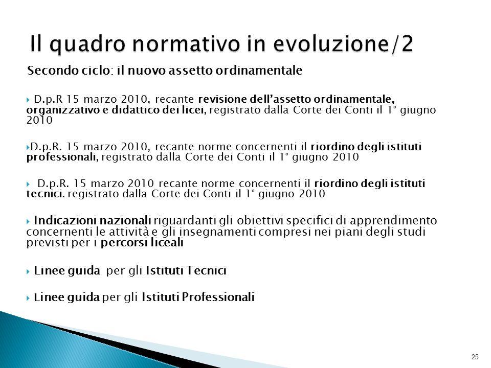 Il quadro normativo in evoluzione/2