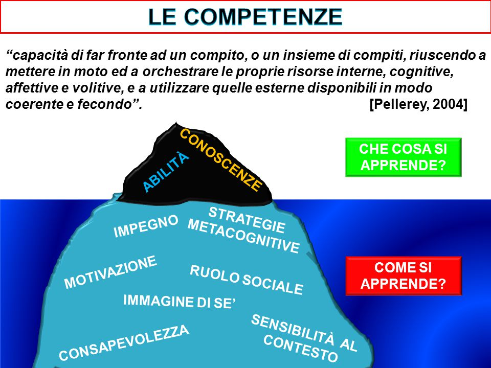 STRATEGIE METACOGNITIVE SENSIBILITÀ AL CONTESTO