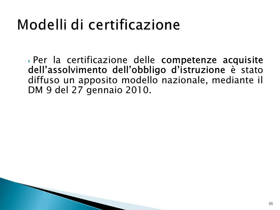 Modelli di certificazione