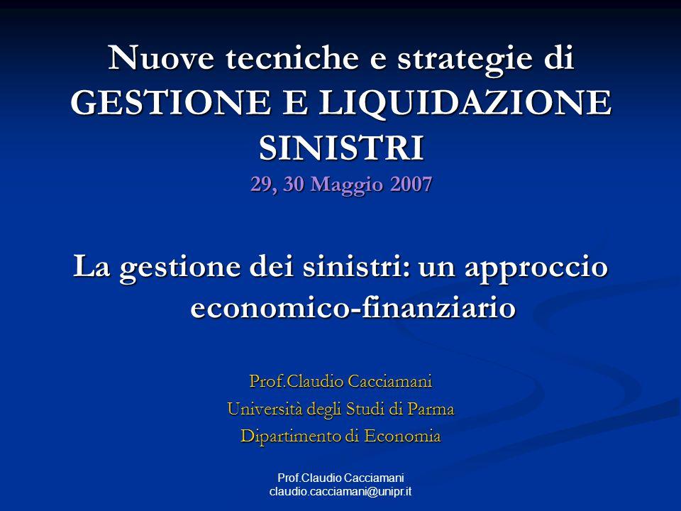 La gestione dei sinistri: un approccio economico-finanziario