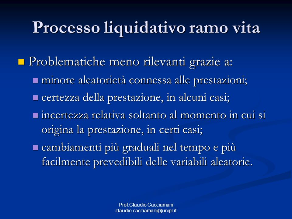 Processo liquidativo ramo vita