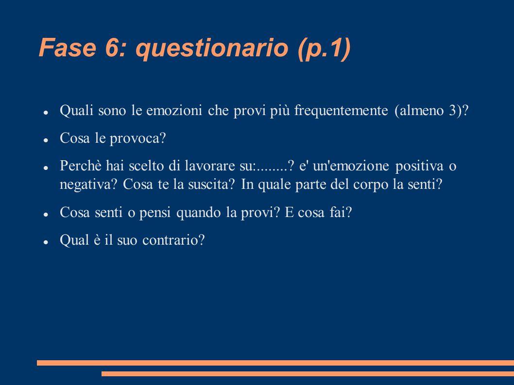 Fase 6: questionario (p.1)