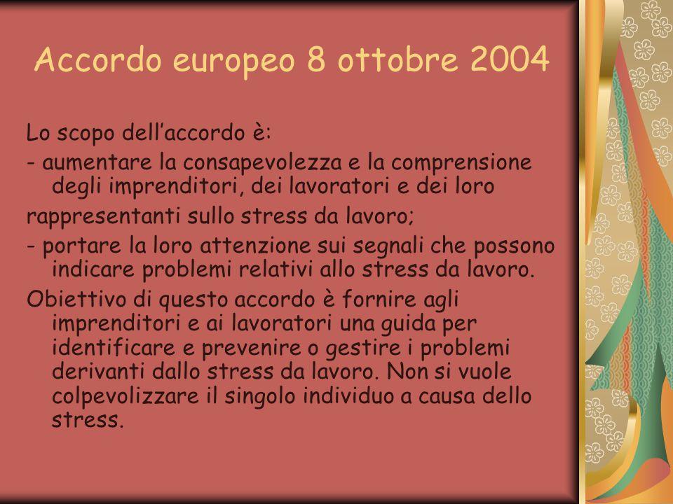 Accordo europeo 8 ottobre 2004