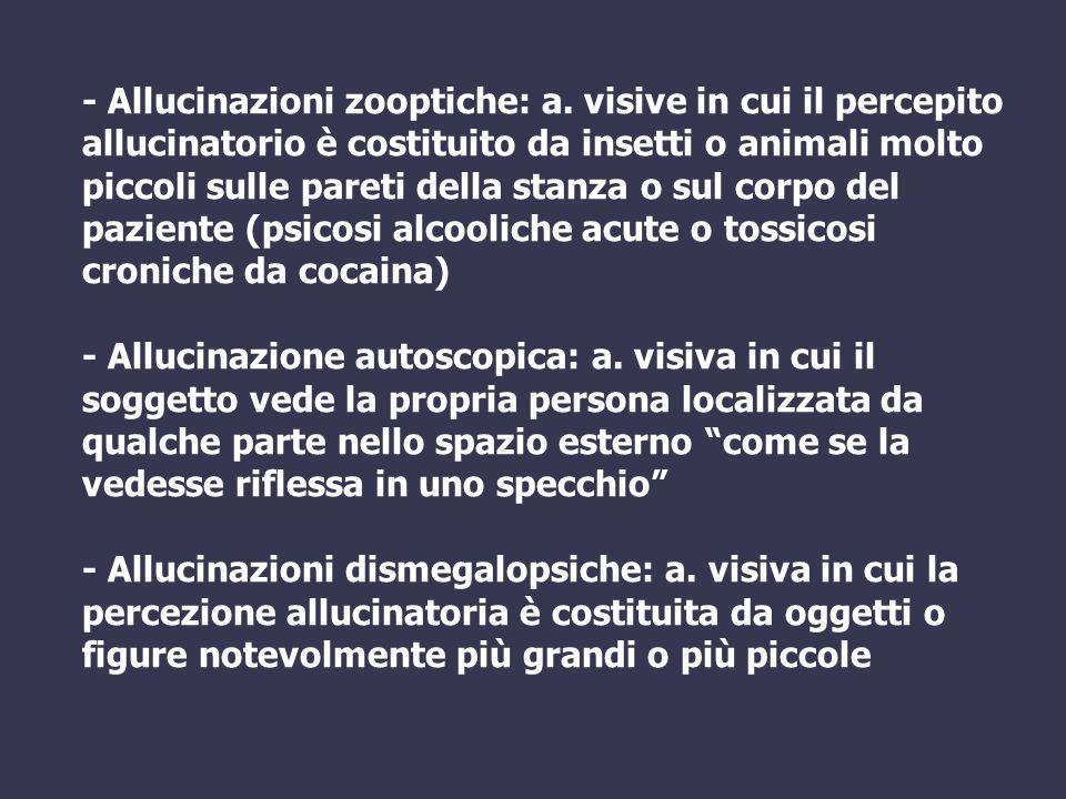 - Allucinazioni zooptiche: a